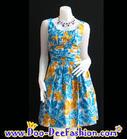 ชุดลายดอก ชุดย้อนยุค เดรสลายดอก ชุดทองกวาว มนต์รักลูกทุ่ง ธีมงานวัด เดรสลายดอก จับย่นช่วงเอว สีสวยสดใสมากๆ ค่ะ (ดูไซส์ คลิ๊กค่ะ)