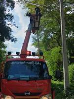 ซ่อมแซมไฟกิ่ง บ้านปิงโค้ง หมู่ 13