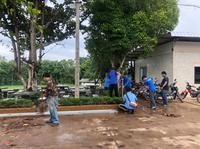 big cleaning day ณ บริเวณรอบสำนักงานเทศบาลตำบลปิงโค้ง 2563