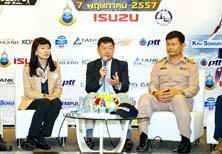 กองการบินทหารเรือร่วมกับอีซูซุ จัดแข่งขันมหกรรมไตรกีฬาท้าคนแกร่ง
