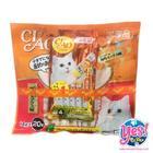CIAO ขนมแมวเลีย เชา ชูหรู เนื้อสันในไก่ผสมซีฟู๊ด ชุดใหญ่สุดคุ้ม บรรจุ 20 ซอง แถมฟรี 1 ถุงเล็ก