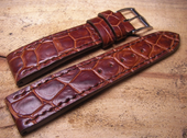 Strap For Omega Watch.Croco Bruno Color.