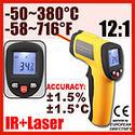 ปืนวัดอุณหภูมิอินฟาเรดช่วงการวัด - 50 ถึง 380 องศาเซลเซียส