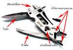 ชุดเครื่องมือสารพัดประโยชน์ JEEP (มีด,คีม,ไขควง,ประแจเลื่อน)