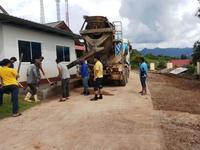 ดำเนินการปรับปรุงต่อเติมลานจอดรถในสำนักงานเทศบาลตำบลปิงโค้ง