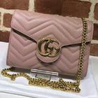 🎊🎊ใหม่มากพร้อมส่งค่ะ NEW Gucci mini bag marmont สีชมพู (Hi end) 📌Size 20 cm.