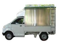 หลังคารถกระบะ Suzuki carry อลูมิเนียมแบบทึบ แบบที่ 1
