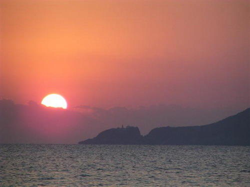 วิวยามอาทิตย์อัสดงที่..เกาะผู่โถวซาน