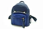 GB-83216-สีน้ำเงิน-ราคาส่ง210ปลีก310บาท-กระเป๋าเป้นำเข้าไซร์8นิ้ว-ตัดเย็บสลับหนังจระเข้แต่งอะไหล่เหล็กรูปหูแมว
