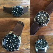 Strap For Seiko Monster and Sumo.Chocolate Color