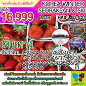 KOREA WINTER SEORAKSAN & SKI  เดินทาง ธันวาคม - มกราคม 2561