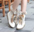 (หมด-ขายแล้วค่ะ) รองเท้าบูธสีครีม size 39