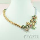 พีโยเต้ สร้อยคอ Edelweiss Necklace  สีเขียว ทอง