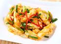 NO. SF24 ปลาหมึกผัดไข่เค็ม (Stir fried squid with salted yolk)