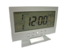 นาฬิกาปลุก ตั้งโต๊ะ รูปทรงจอLCD - สีเงิน + ถ่านAAA 3 ก้อน