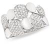 แหวนเพชรปอกมีดแฟนซี ทองขาว เพชร 1.90 กะรัต (95 เม็ด)
