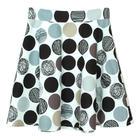 กระโปรงแฟชั่น กระโปรงทรงบาน Graphic Multi Color Flare Skirt ผ้าคอตต้อนญี่ปุ่นพิมพ์ลายวงกลมกราฟฟิก