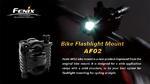 ขาจับไฟฉายติดแฮนด์จักรยาน Fenix AF02 หมุนได้ อย่างดี