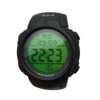 AQUA นาฬิกาข้อมือชาย Sport กันน้ำ พร้อมหน้าจอสะท้อนแสดงสีเขียว รุ่น YF806 (สีดำ)