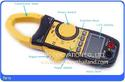 มิเตอร์วัดไฟฟ้า อุณหภูมิ Digital AC/DC Clamp Meter Multimeter Thermometer Ohm