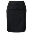 กระโปรงแฟชั่น กระโปรงทำงาน Two Round Belt Skirt กระโปรงสีดำ {งานตัดเย็บคุณภาพ}