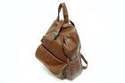 HB-4108-สีน้ำตาลเข้ม-ราคาส่ง190ปลีก290บาท-กระเป๋าเป้แฟชั่นหนังPUนิ่มแต่งอะไหล่ล็อคด้านบนสไตล์งานแบรนด์