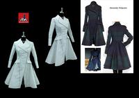 ผลงานการฝึกออกแบบคัตติ้งแพทเทิร์นชุดโค้ท Dress Coat