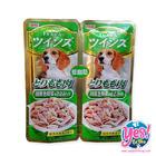 อาหารสุนัข INABA อาหารสัตว์ผสมสำเร็จรูปชนิดเปียกสำหรับสุนัขอายุ 1 ปีขึ้นไป รสเนื้อน่องสะโพกไก่ไม่มีกระดูกผสมเนื้อสันในไก่และผักในเยลลี่ น้ำหนัก 40 กรั
