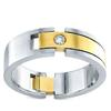แหวนปอก 2 โทน   เม็ดเดี่ยว 0.10 ct (1 เม็ด) ทอง 90%