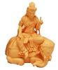 พระแม่นั่งช้างสีไม้ทอง ขนาด 4