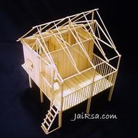 DIY บ้านไม้ไผ่