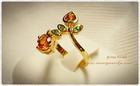 GR0014 แหวนทองกรีนการ์เน็ต&บุษราคัม