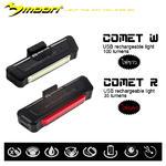 ไฟติดจักรยาน MOON Comet USB ชาร์จได้ในตัว สว่างจ้าสะใจ