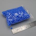 ลูกปัดกลมสีพาสเทล 6 มิล สีน้ำเงิน