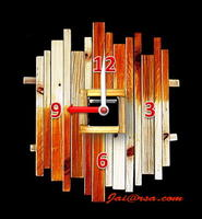 DIY นาฬิกาจากเศษไม้
