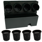 Vertical planting 4 holes with growing pot หลุมปลูก 4 หลุม + แทงน้ำและฝาครอบ+ กระถาง ราคา 900 บาท