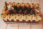 ชุดคิท Kit Set กล่องกระดาษทิชชูทรงเหลี่ยม ลาย Chocolate Cake