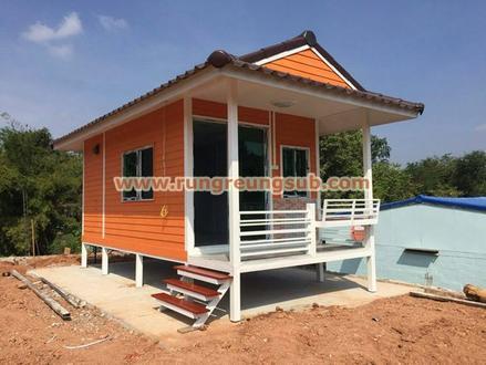 11 บ้านสีส้มหลังคาน้ำตาล