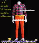 เสื้อผู้ชายสีสด เชิ้ตผู้ชายสีสด ชุดแหยม เสื้อแบบแหยม ชุดพี่คล้าว ชุดย้อนยุคผู้ชาย เสื้อสีสดผู้ชาย เชิ้ตสีสด (ไซส์ M:รอบอก 36) (ND) (ดูไซส์ส่วนอื่น คลิ๊กค่ะ)
