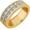 แหวนปอกมีดเพชร 2 แถว ทอง 90 % เพชร 0.9 กะรัต (16 เม็ด)