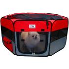 คอกสุนัข คอกกั้นสุนัข พกพาติดมุ้ง สีแดง ขนาด กว้าง 150 cm สูง 50 cm