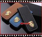 ซองกุญแจหนังแท้สำหรับ Porsche Cayman, Boxster, Cayanne, 911, Panamera, Macan หนังแท้ สีดำ