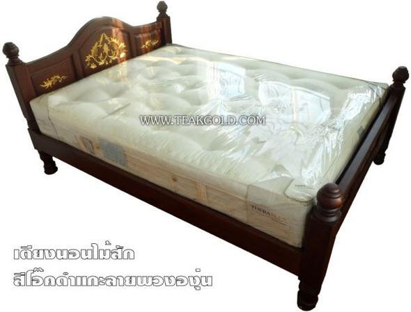 เตียงไม้สักแกะสลักลายองุ่น_026