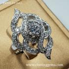 แหวนเพชร 1 กะรัต เกรด7A คัดพิเศษเพชรเจียระไน 81เหลี่ยม ตัวเรือนดีไซน์เรียบหรู สวยทันสมัย ตัวเรือนเงินแท้ 92.5%ชุบทองคำขาว