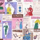 ผ้าคอตตอนญี่ปุ่น Yuwa ขนาด 1/4 หลา SZ826048-A สีม่วงชมพู