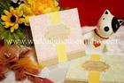 การ์ดแต่งงาน แบบพิเศษ สีชมพู รหัส W 26
