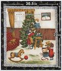 ผ้าอเมริกาลาย Christmas Tree สีดำ