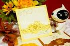 การ์ดแต่งงาน แบบพิเศษ สีทอง W 19-3