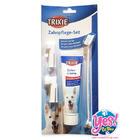 ยาสีฟันพร้อแปรงสีฟันสุนัข รสเนื้อ สำหรับสัตว์เลี้ยง Trixie สินค้านำเข้าจากประเทศ เยอรมัน