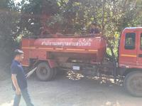 ลงพื้นที่ส่งน้ำเพื่อแก้ไขภัยแล้ง บ้านห้วยจะค่าน หย่อมบ้านใหม่ลีซู หมู่ที่ 9